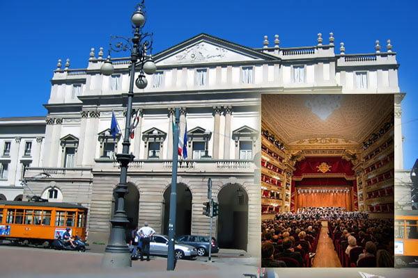 El teatro de la Scala y la Galleria Vittorio Emanuele II