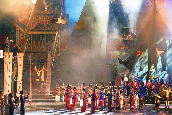 Visitar el espectáculo Siam Niramit de Bangkok en Tailandia